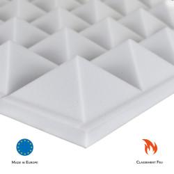 Mousse Mélamine Pyramide Mélamine Alveolaire M1 acoustique phonique isolation solutions elastomeres
